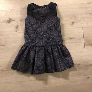 Janie and jack 2T navy and pink sparkle dress